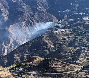 L'incendi de Gran Canària es manté actiu