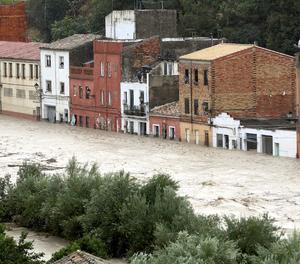 Una vista del riu a Ontinyent aquest dijous.