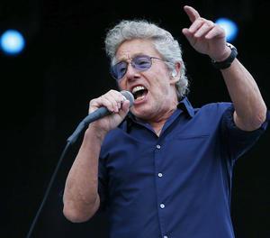 El vocalista de la banda, Roger Daltrey, durant un concert.
