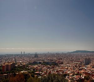 Una vista de la ciutat de Barcelona
