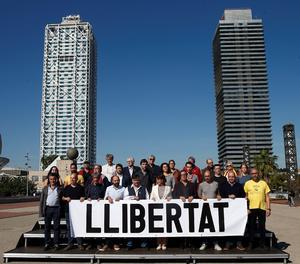La presentació de la manifestació d'aquest dissabte a Barcelona.