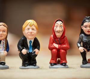 Figures de Greta Thumberg, Boris Johnson, personatge de La Casa de Papel i la cantant Rosalía.