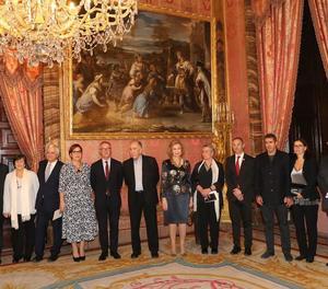 El lleidatà Joan Margarit va rebre ahir el premi Reina Sofia de Poesia Iberoamericana a Madrid.