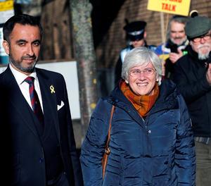 L'exconsellera d'Educació, Clara Ponsati, i l'advocat Aamer Anwar.