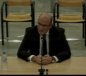 El coronel Pérez de los Cobos durant la seva declaració a l'Audiència Nacional.
