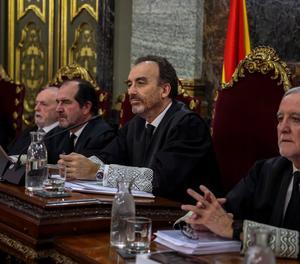 El tribunal del judici del 'procés' al Suprem, encapçalat per Manuel Marchena.