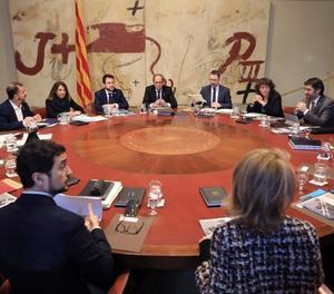 La reunió del Consell Executiu d'aquest dimecres.