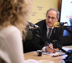 El president de la Generalitat, Quim Torra, durant l'entrevista aquest dijous a 'El Matí' de Catalunya Ràdio.