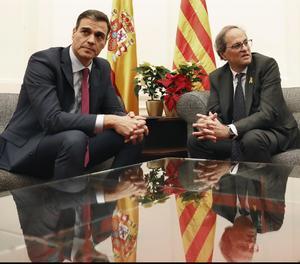 Sánchez porta a la reunió amb Torra temes com finançament o infraestructures