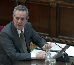 L'exconseller d'Interior Joaquim Forn, durant el judici pel 'procés' al Suprem.