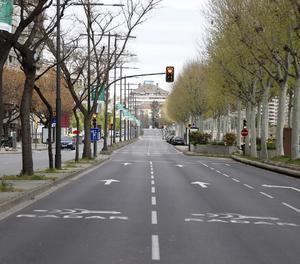L'avinguda de Madrid de Lleida, aquest dilluns.