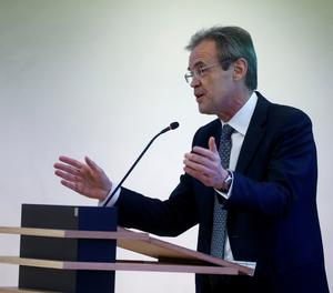 El president de CaixaBank, Jordi Gual.