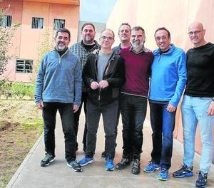 Imatge dels presos del procés empresonats a Lledoners.
