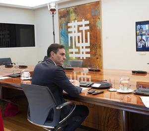 Pedro Sánchez va mantenir una nova reunió amb els presidents autonòmics de forma telemàtica.