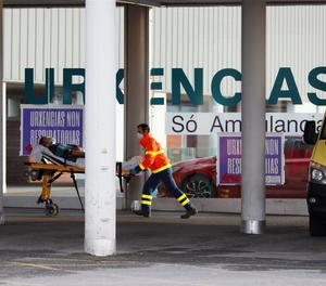 L'entrada d'urgències d'un hospital.