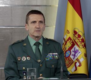 Fotografia facilitada per Moncloa, que mostra al cap d'Estat Major de la Guàrdia Civil, general José Manuel Santiago