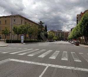 Vista de la Rambla d'Aragó de Lleida.