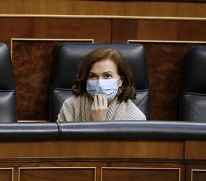 La vicepresidenta del Govern espanyol, Carmen Calvo.