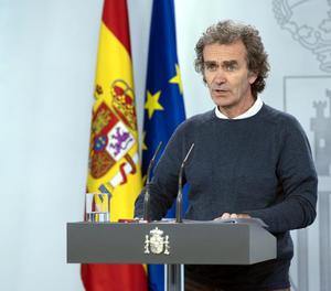El director del Centre de Coordinació d'Alertes i Emergències Sanitàries, Fernando Simón, ahir.