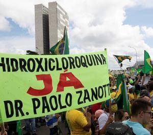 Manifestació ahir a Brasília de suport al president Bolsonaro.