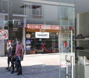 Fotografia facilitada per l'Agència de Notícies Andorrana d'un comerç en el centre de la ciutat.