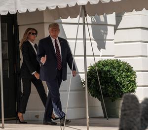 En la imatge el president dels Estats Units, Donald Trump i la primera dama, Melania Trump