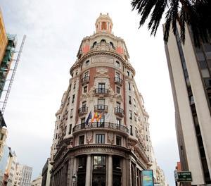 Vista general de la seu de Caixabank a València