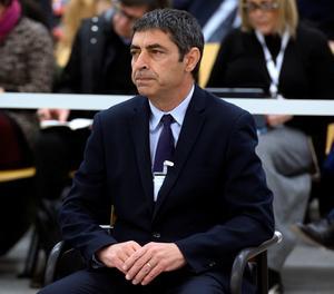 El major dels Mossos d'Esquadra Josep Lluís Trapero, al començament del judici.