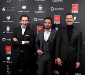 Els directors de 'La Trinchera Infinita', Jon Garaño, Aitor Arregi i José María Goenaga.