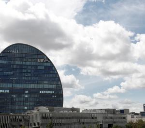 Vista general de la seu del BBVA a Madrid.