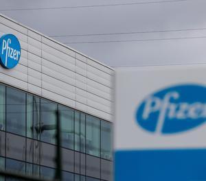 Planta de la farmacèutica Pfizer a Bèlgica.