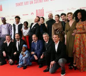 L'equip de la pel·lícula 'Adú' en la presentació del llargmetratge.