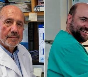 Els investigadors Mariano Esteban (esquerra) i Juan García Arriaza, del Centre Nacional de Biotecnologia del CSIC.