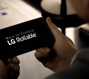 Telèfon enrotllable de LG.