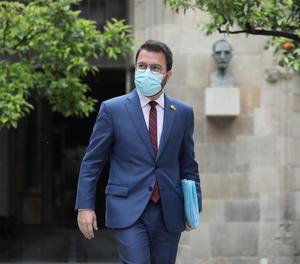 El vicepresident en funcions i candidat d'ERC a la Generalitat, Pere Aragonès.