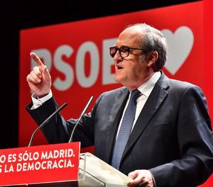 El candidat del PSOE-M a les eleccions a la Comunitat de Madrid, Ángel Gabilondo, durant un acte del 30 d'abril.