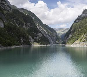Vista general de la presa Gigerwald a Vaettis (Suïssa).