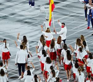La delegació espanyola encapçalada per Belmonte i Carviotto.