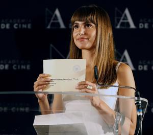 L'actriu Verónica Echegui realitza la lectura de les tres pel·lícules preseleccionades per representar Espanya en la pròxima edició dels Oscar.