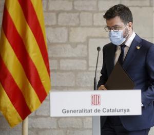 Imatge d'arxiu del president de la Generalitat de Catalunya, Pere Aragonés.