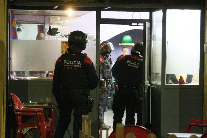 Operatiu antidroga dels Mossos d'Esquadra.