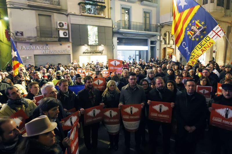 Els manifestants han reclamat que judicialitzar la política.