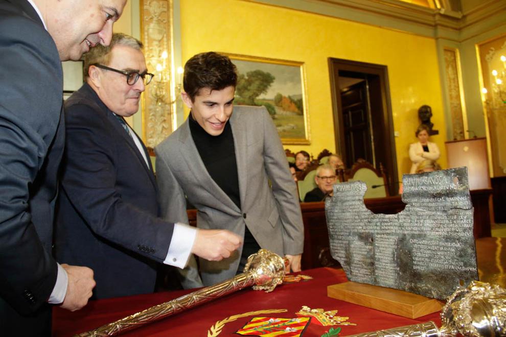 Imatges de l'acte de la Paeria on Marc Màrques ha rebut el Premi Internacional Ciutat de Lleida