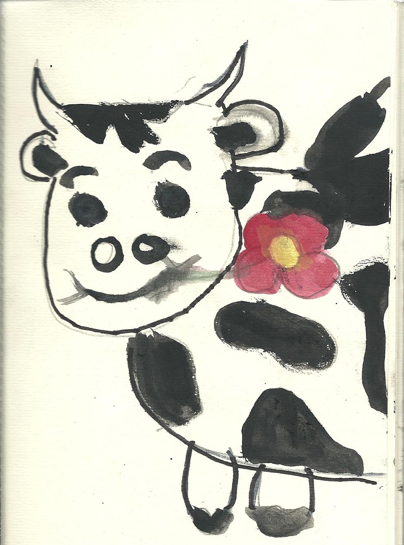 Us presento la vaca Laia que s'ha mudat per anar de Festival