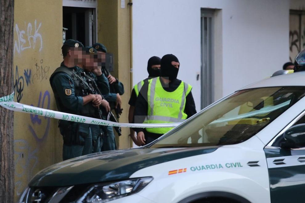 La Guàrdia Civil ha detingut un jove al barri de Pardinyes.