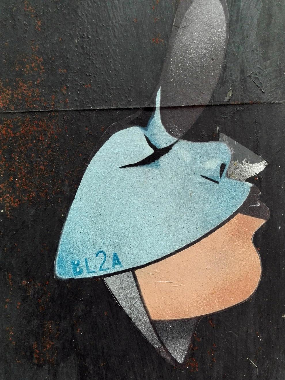 obres. Diferents obres de BL2A escampades per Lleida. La Frida Kahlo, que no està signada, podria ser de Taski.