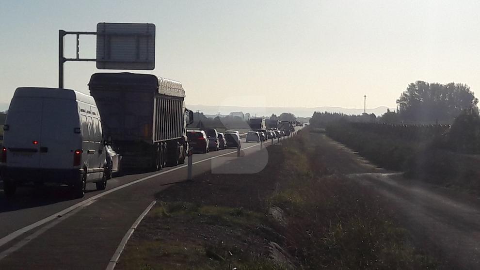 Marxa lenta a l'N-240 a l'atura de Margalef