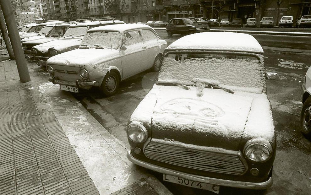 Imatges de la nevada del 1985