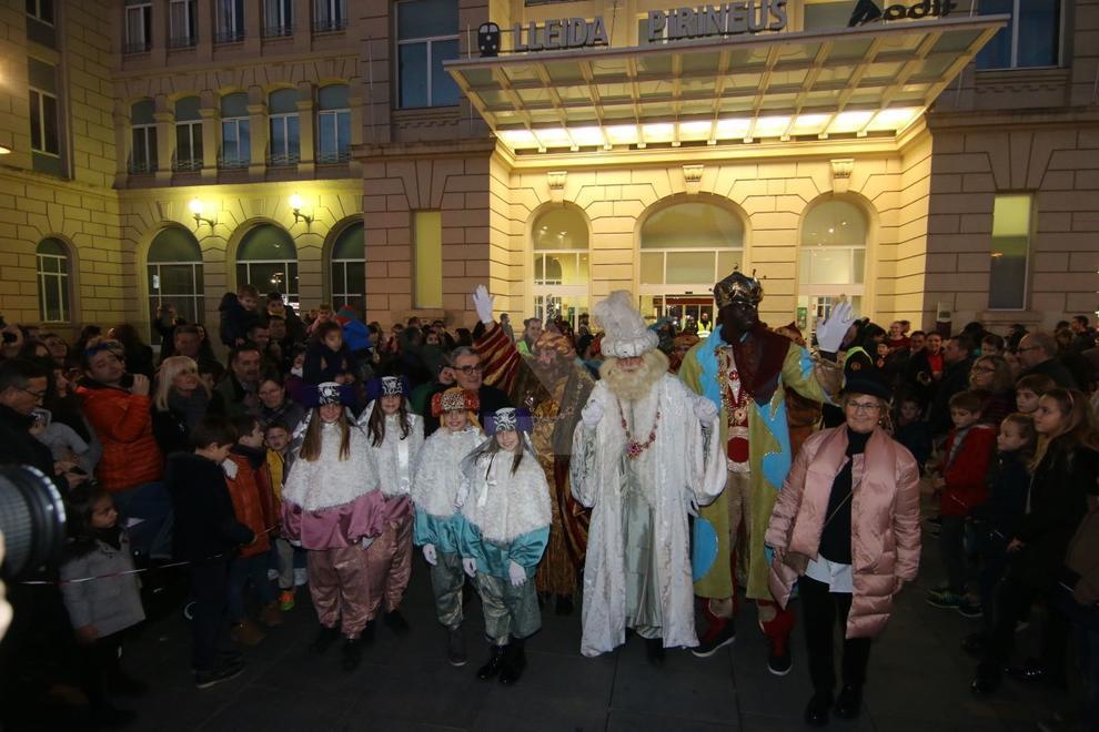 Ses Majestats han arribat en tren a la capital del Segrià.