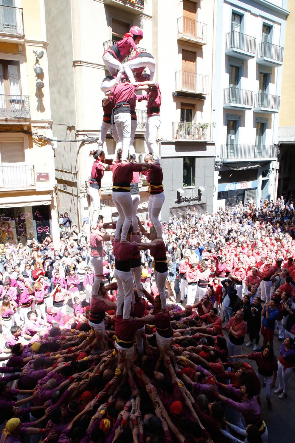 Imatges de la jornada castellera de la Festa Major de Lleida 2018